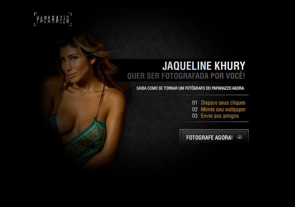 Hotsite for paparazzo where you photograph jaqueline cury